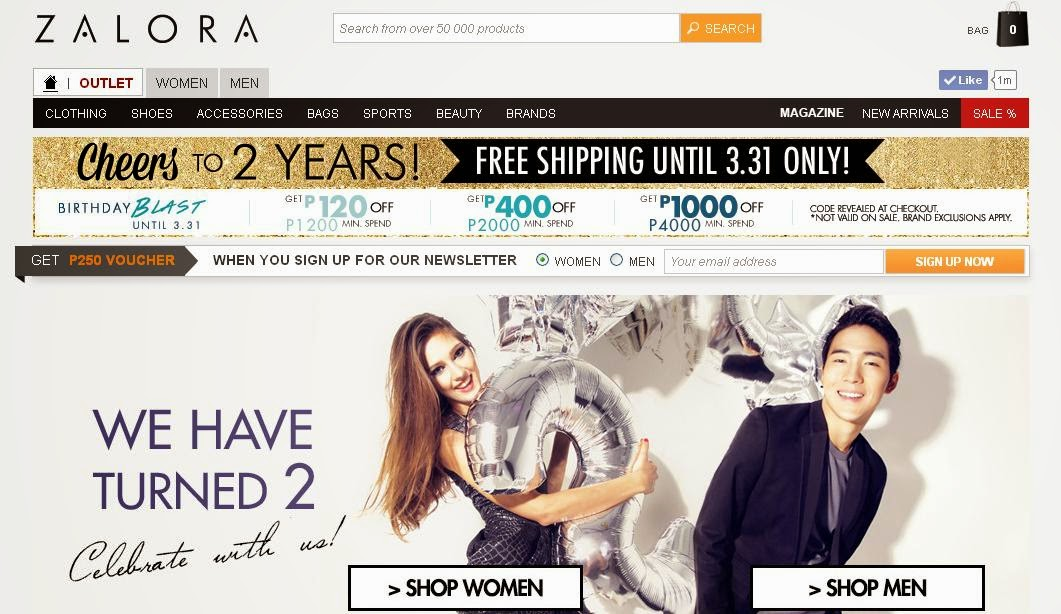 ZALORA Philippines: March 2014: Screenshot