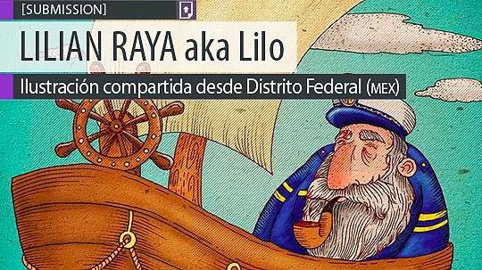 Ilustración. El capitán de LILIAN RAYA aka Lilo