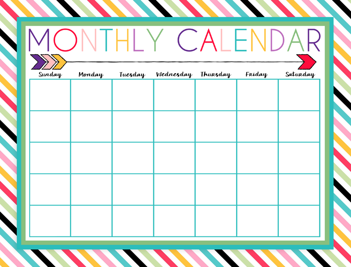 Calendar Design For Preschool : I should be mopping the floor free printable daily