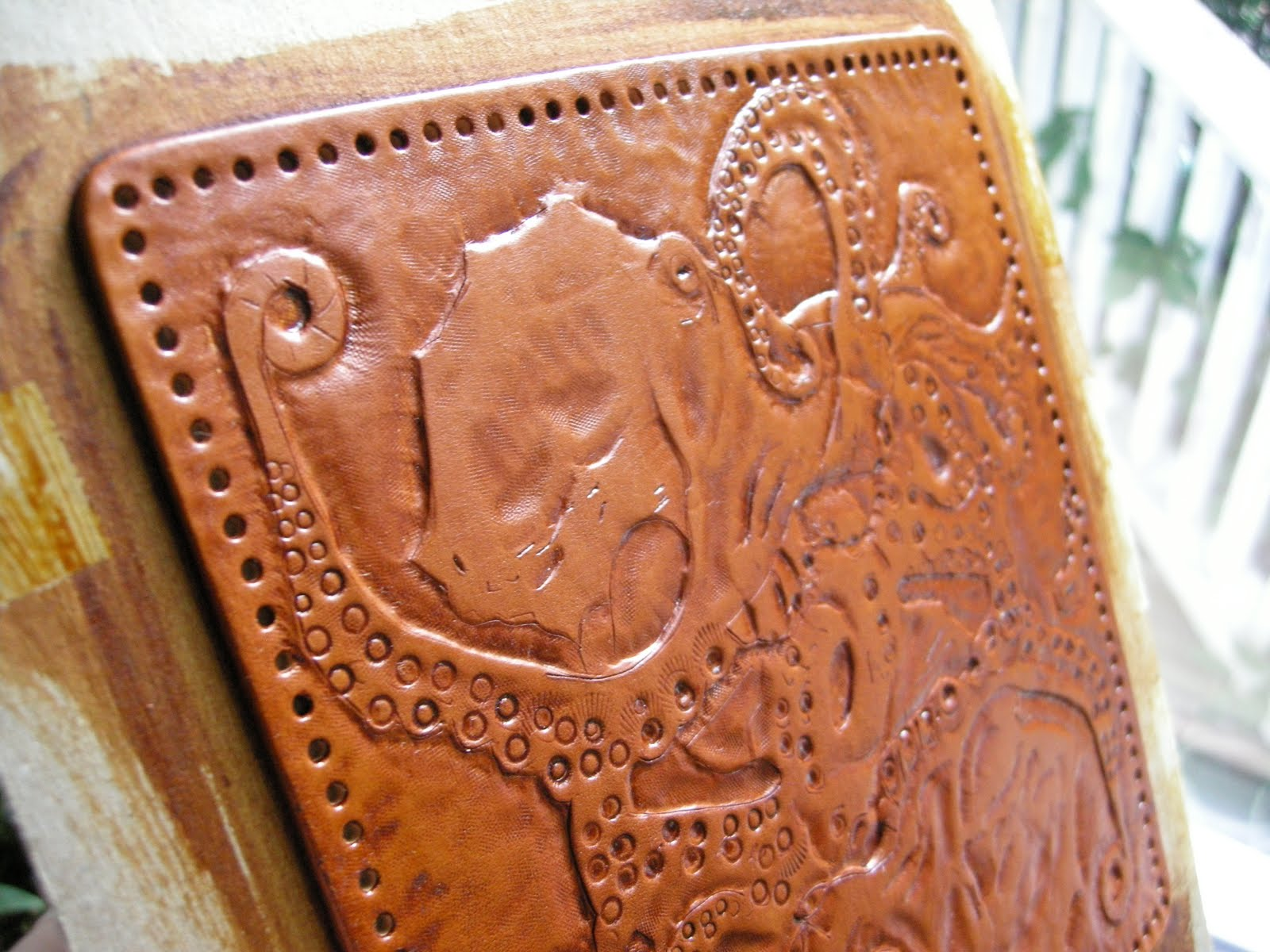 Leather carving lab notes