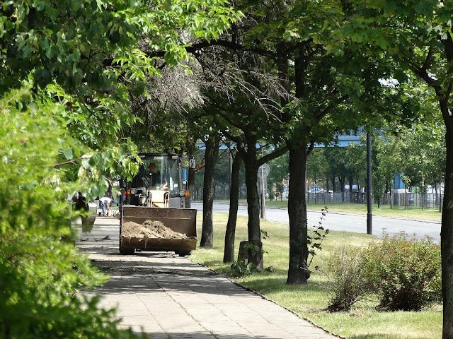 Budowa ścieżki rowerowej na ulicy Ostrobramskiej.