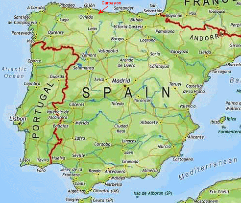 northern spain map ireland map