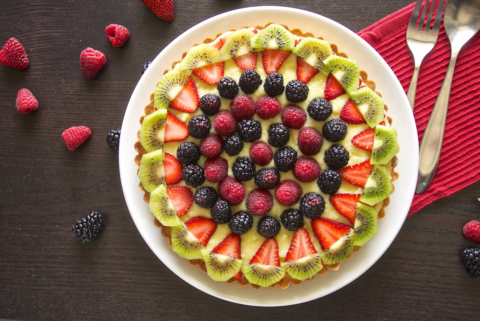 Berry custard tart by Janette Fuschi @CulinaryGinger | Epicurious ...