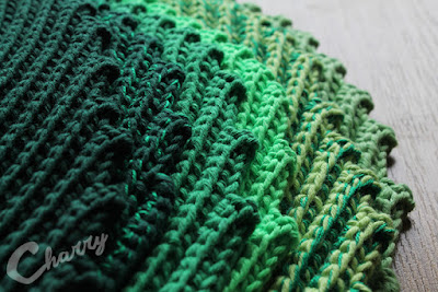 Charry shades of green Leaf potholders