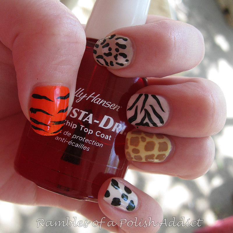sinful colors unicorn la colors la creme whipped spat! animal print skittle nail art manicure