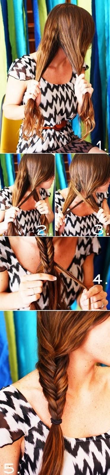 Coiffure rapide cheveux mi long