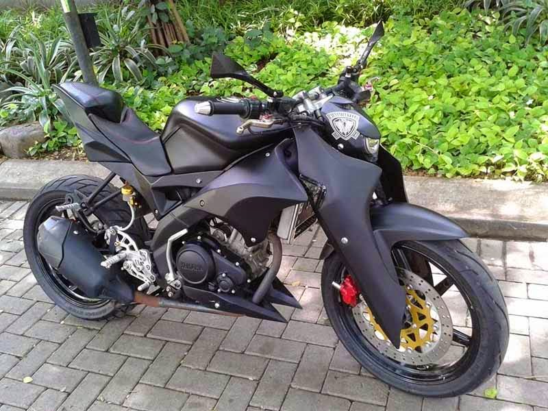 Modifikasi Motor Yamaha Vixion Minor Fighter
