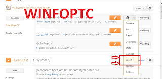 layout button of blogger at winfoptc