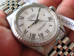 ROLEX OYSTER PERPETUAL DATE JUST WHTE ROMAN DIAL - ROLEX 1603 WHITE ROMAN DIAL - JUBILE BRACELET