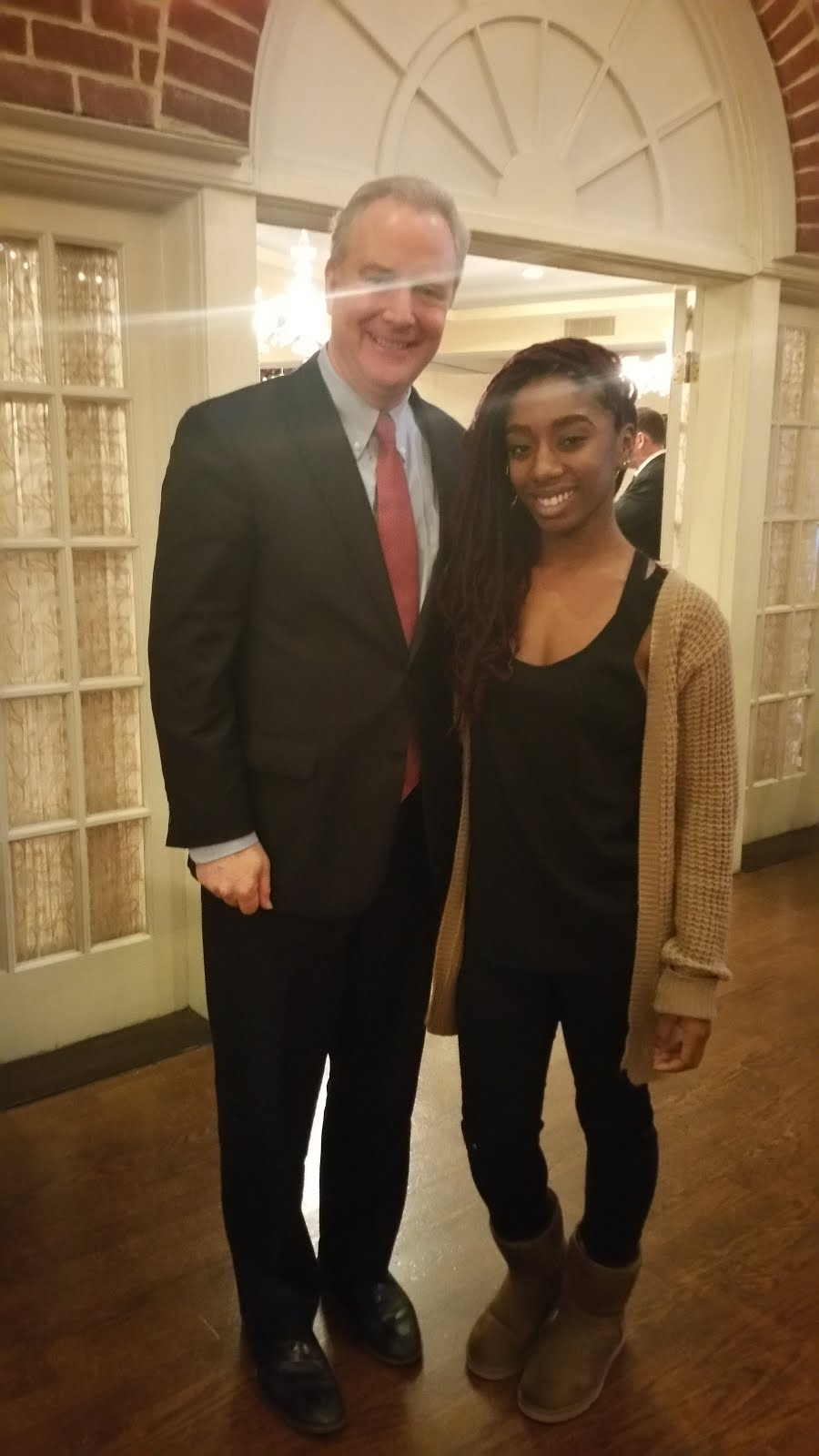 Tatiyana Miles Meets Congressman Chris Van Hollen