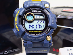 CASIO G-SHOCK FROGMAN NAVY BLUE GWF-D1000NV-2DR - TRIPLE SENSOR - TOUGH SOLAR - MINT CONDITION