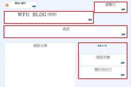 [教學]Blogger 範本﹍(2) 標頭、導覽列、側邊欄、頁尾區塊的程式碼