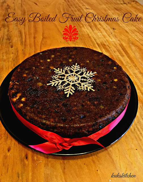 Easy Christmas boiled fruit cake  | Kukskitchen