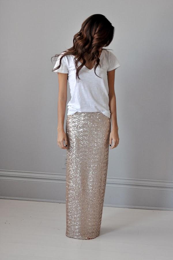 abree original sequin maxi skirt