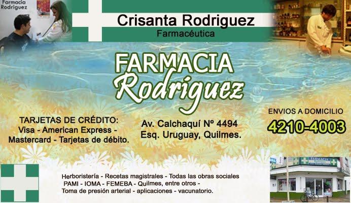Farmacia Rodriguez       Telefono 4210-4003