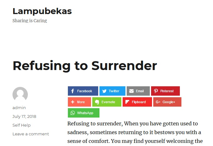 Refusing to Surrender