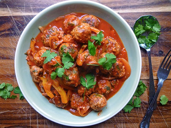Mexican Pork Meatballs In Tomato-Chipotle Chile Sauce Recipe ...