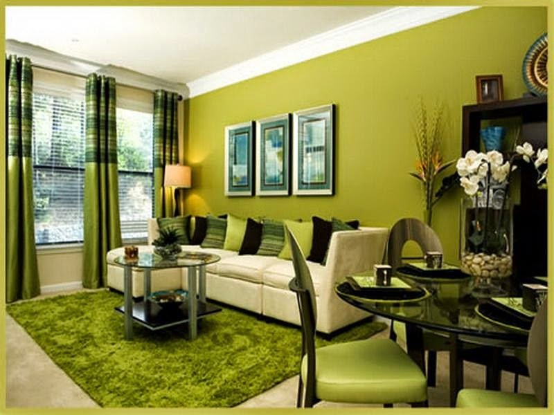 Genial Contemporary Green Living Room Design Ideas