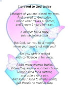 Poems for Babyloss Services: I prayed to God Today
