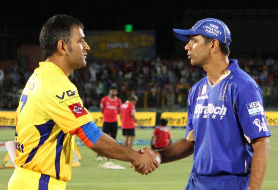 MS-Dhoni-Rahul-Dravid-RR-vs-CSK-IPL-2013