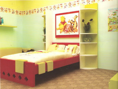 Girls Bedroom Design in Yellow