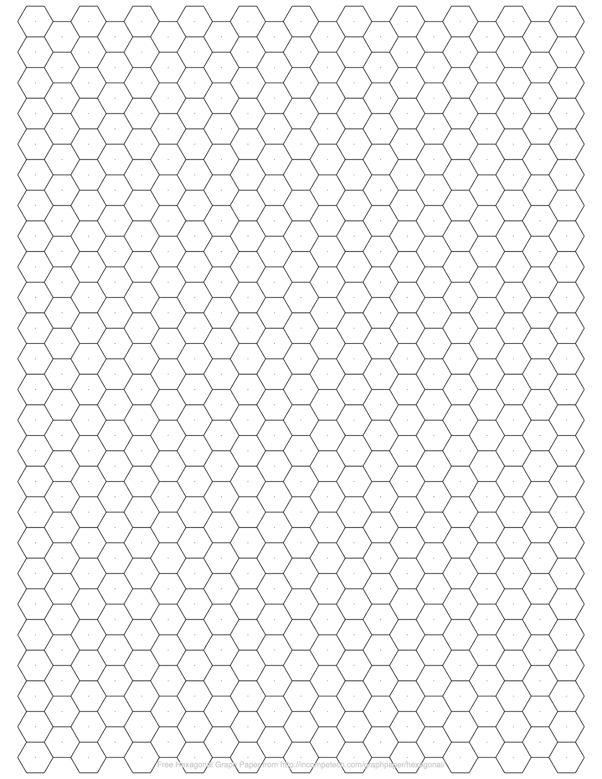 Bewitching image in printable hexagon grid