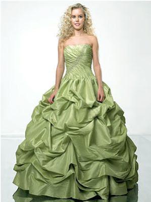 Vestido de fiesta 15 verde