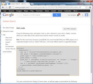 Membuat Google Custom Search pada Web atau Blog Get Code