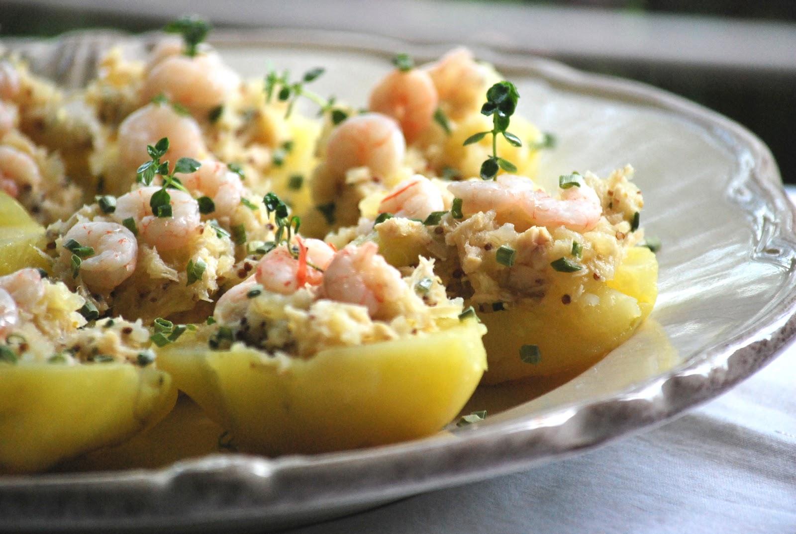 Patatas rellenas de at n y gambita a la ant gua chez silvia for Cocinar patatas rellenas