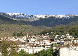 Vista panorámica de la localidad de Candelario
