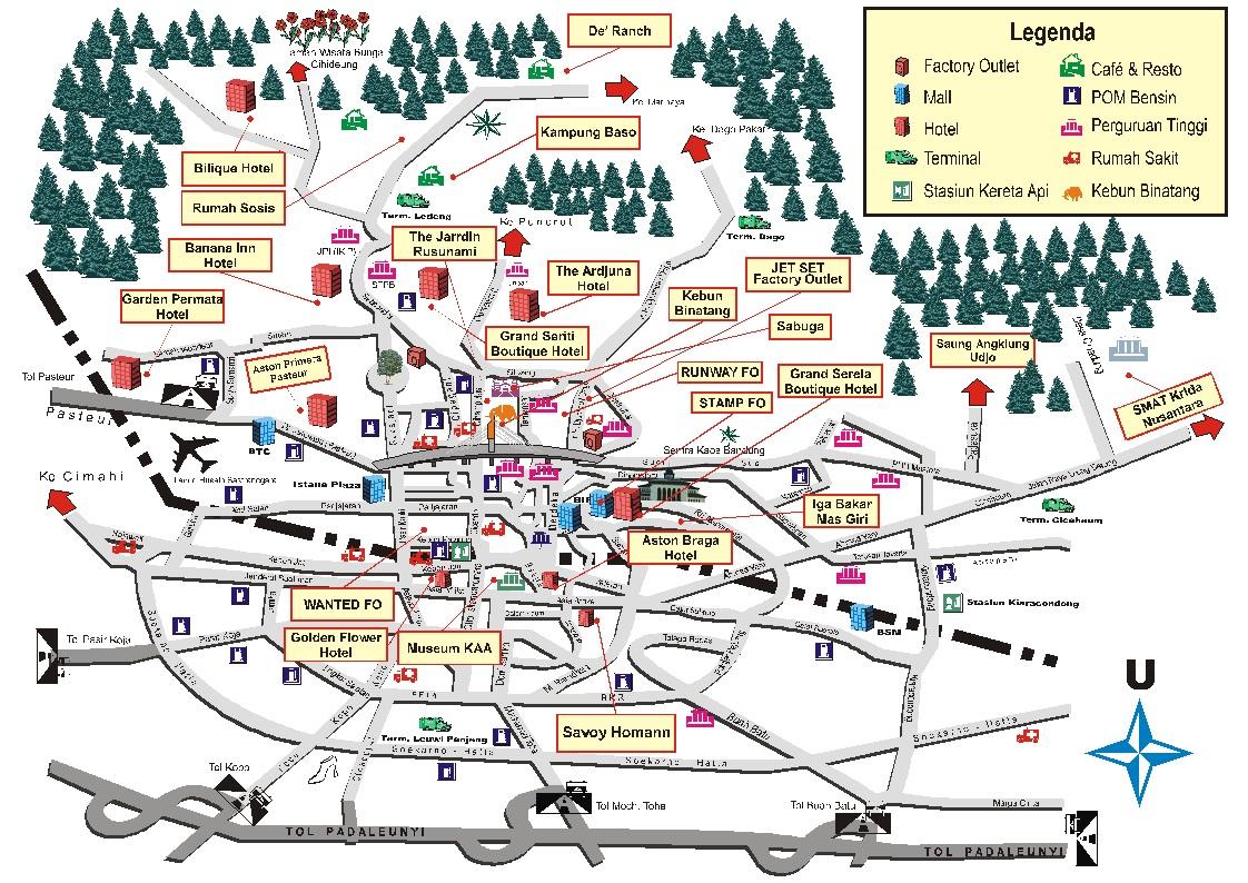 Bandung map wisata sciox Gallery