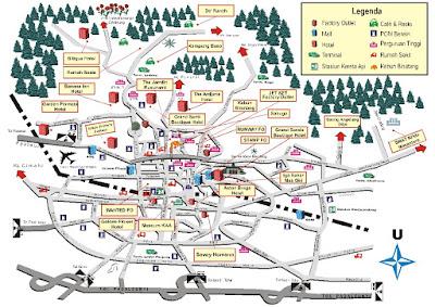 Peta Wisata Kota Bandung