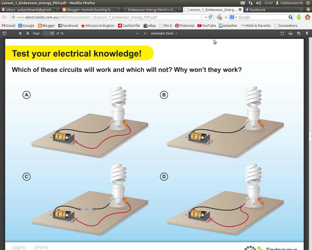 Homeschooling Notepages Electricity Week 1 How Do Circuits Work Turned On It Closes The Gap And Is Able To Move Make Device
