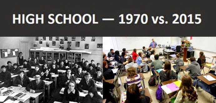 The Extreme Differences Between School In 1970 And 2015