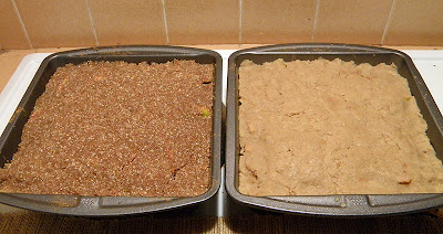 Two Pans of Crisp Ready to Bake