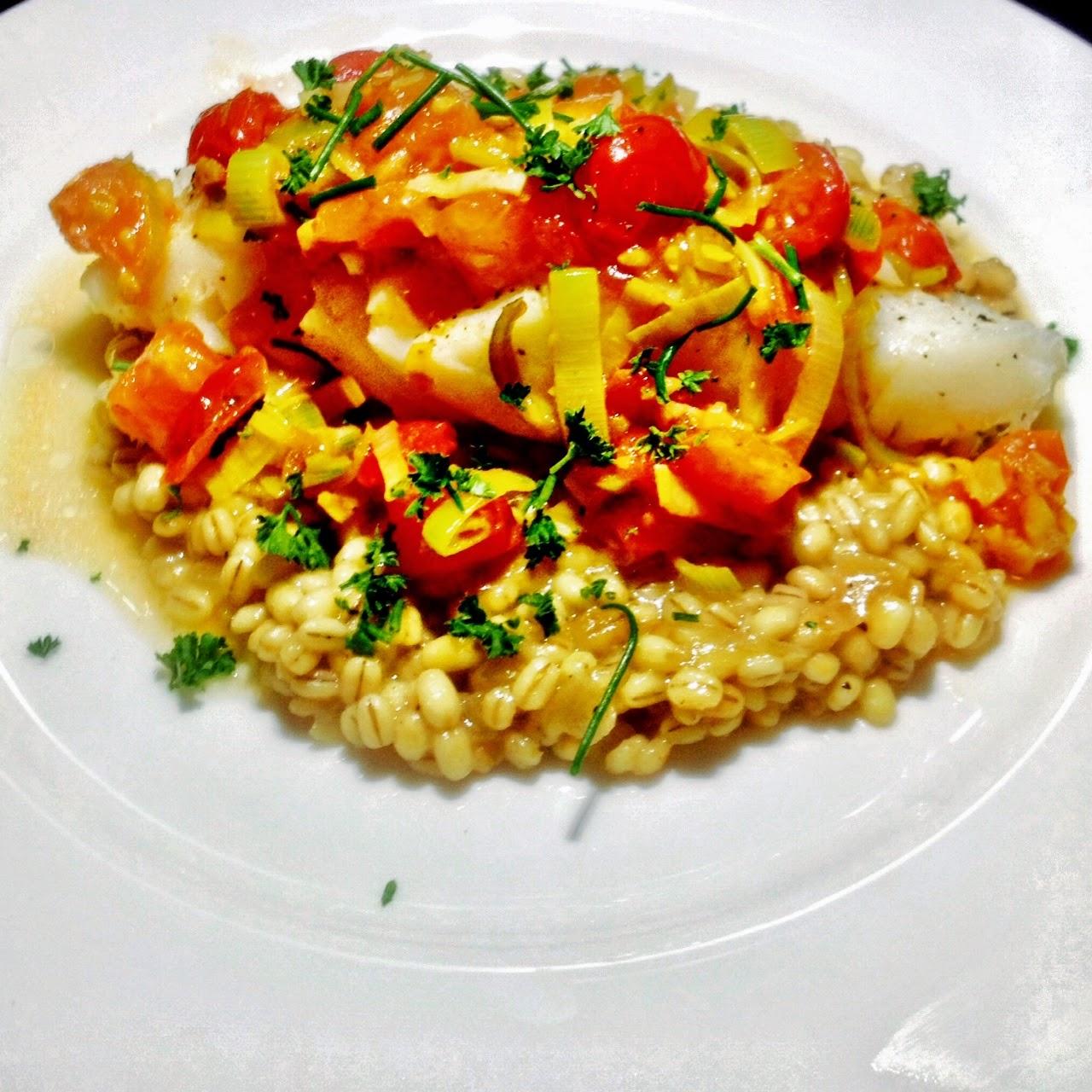 Salt-Baked Sea Bass With Tomato Vinaigrette Recipes — Dishmaps