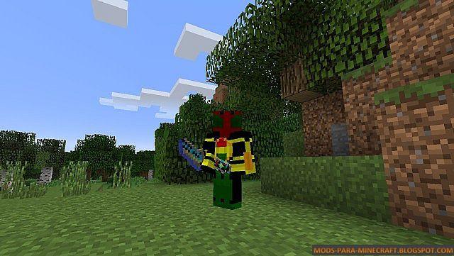 Ser un Kamen Raider en Minecraft