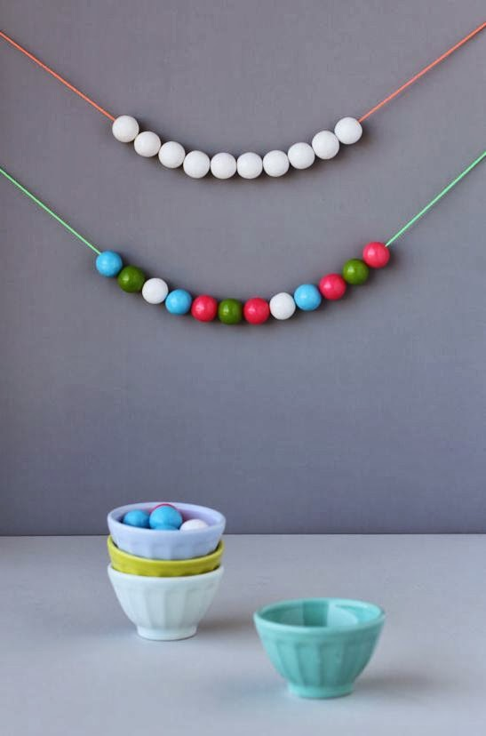 Easter party gumball garland