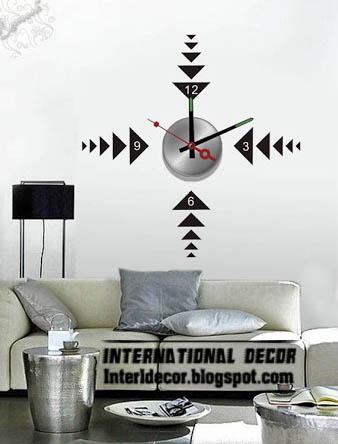 Modern Wall Decal Clock Shape For Living Room, Modern Wall Sticker Clock Part 96