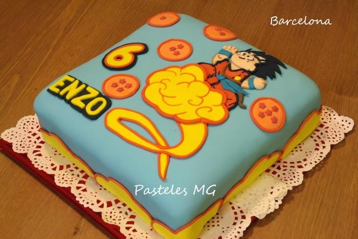 Pasteles MG: Tarta Goku en su nube (Dragon Ball Z Cake) en 2D.