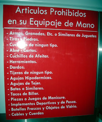 sign at La Ceiba, Honduras airport
