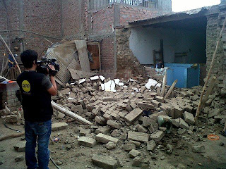 Sismo en peru deja daños a edificios antiguos