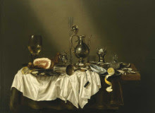 Banquet Piece with Ham by Willem Claesz Heda art