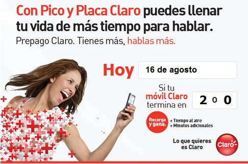 pico y placa claro colombia hoy Jueves 16 agosto 2012 hoy es dia pico