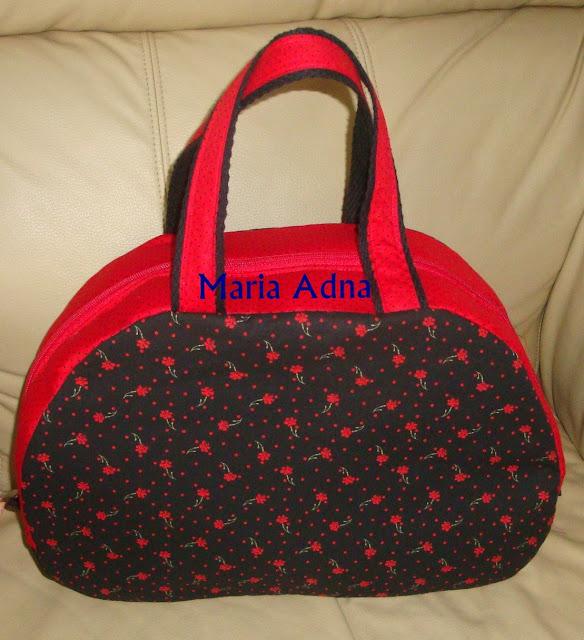 Vanity case, textile vanity case, fabric vanity case, frasqueira em tecido, frasqueira vermelha em tecido