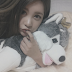 T-ara's Qri snapped some adorable photos with Brownie