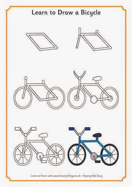 Learn to draw bicycle for kids