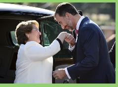 Presidenta Bachelet es recibida por Felipe VI en la primera visita de Estado de su reinado