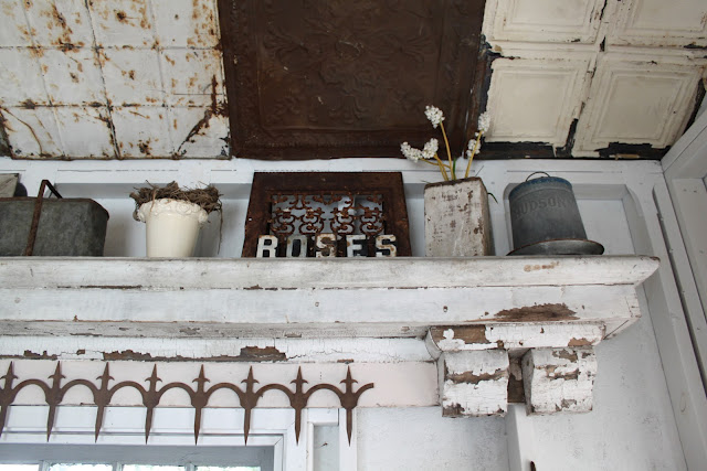 rustic and make a big statement is to find a rusty piece these rustic