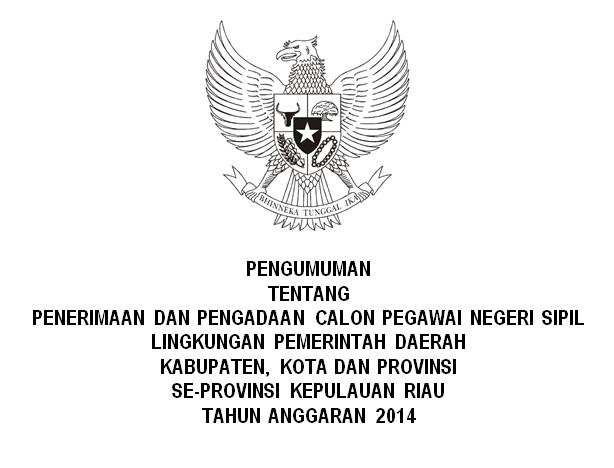 List Penerimaan CPNS SeProvinsi Kepulauan Riau